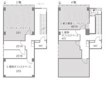 2.4階コワーキングスペース・個別オフィス(コワーキングスペース大津)
