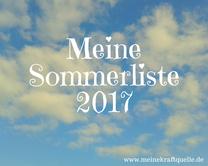 Sommerliste 2017, Wunschliste 2017, Kraftquelle