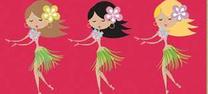 Hawaii Mädchen Hula Tänzerin