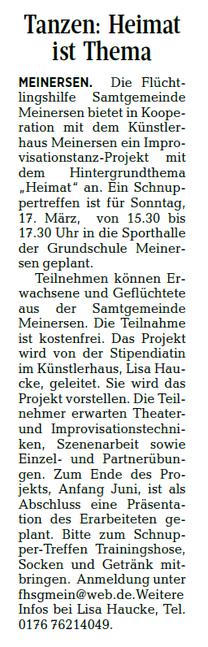 Aller-Zeitung vom 8.3.2019