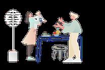apprentissage alimentaire enfant. illustration