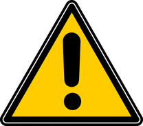 Warnung vor Konservierungsstoffen in Augentropfen, Warnschild