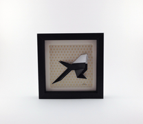 Cadre origami Mésange - Format 14 x 14cm - 25€