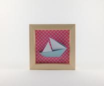 Cadre origami Bateau - Format 11 x 11cm - 20€