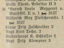 Adressbuch Klosterstraße 24  (1926)