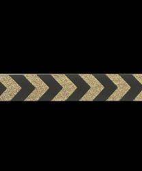 Band 7 - Chevron Schwarz-Gold  12mm Design:Farbenmix
