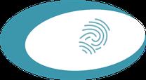 Icon, Fingerabdruck, Symbol für Profil schärfen, Online Präsenz