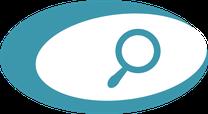 Icon, Lupe, Symbol für Recherche