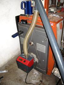 Umrüstung von Nordland Heizgeräte Pelletbrenner auf Viessmann Kessel