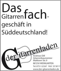 Anzeige: Der Gitarrenladen www.der-gitarrenladen.de