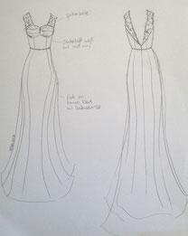Erstentwurf: Umänderung des Hochzeitskleids