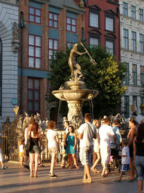 ドゥーギ広場のネプチューンの噴水