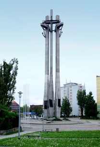 グダニスク造船所前の連帯記念碑