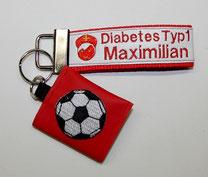 Diabetiker  Schlüsselanhänger Notfallset für Kinder, Anhänger, Diabetes, BE, Fußball