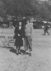 Jacqueline avec Pierre Zwirn, Bellecour