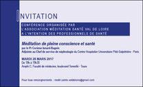 meditation à Tours - conférence dr Corinne Isnard Bagnis