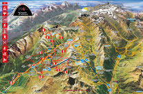 Interaktive Sommerkarte der Silvretta Arena Wanderferien Samnaun
