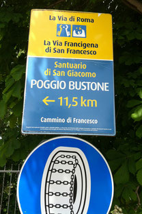 Franziskusweg von Rieti nach Assisi