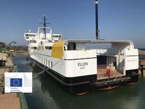 """Die neue Elektrofähre """"EF Ellen"""" im Hafen von Søby auf Ærø. Foto: Ærø Kommune/PR"""