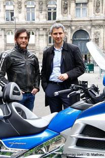 Jean-Marc Belotti et Christophe Najdovski à l'Hôtel de Ville de Paris le 13 avril 2016