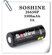 SOSHINE 26650P 5500mAh; защищенный