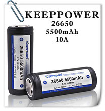 Keeppower IMR26650 5500mAh (10А) защищенный