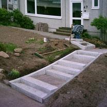 Zuwegung mit Stufen