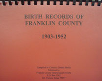 Cover of Franklin County Births, 1903-1952