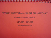 Cover of Franklin County Old Age Assistance Commission Payments, 1937-1939