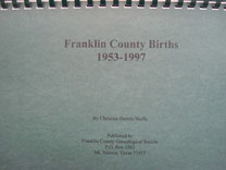 Cover of Franklin County Births, 1953-1997
