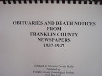 Cover of Obituaries and Death Notices from Franklin County, Texas, Newspapers: 1937-1947 (Vol. III)