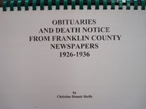 Cover of Obituaries and Death Notices from Franklin County, Texas, Newspapers: 1926-1936 (Vol. II)