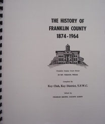 Cover of History of Franklin County, Texas, 1874-1964