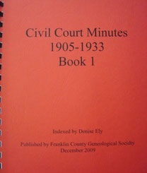 Cover of Civil Court Minutes 1905-1933 Book I