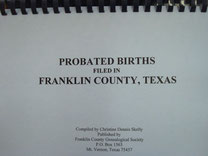 Cover of Franklin County Births Probated