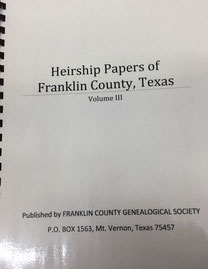 Cover of Heirship Papers of Franklin County, Texas -- Volume IV