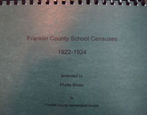 Cover of Franklin County School Censuses, 1922-1924