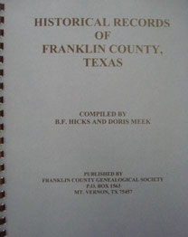 Cover of Historical Records of Franklin County, Texas