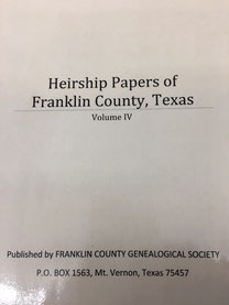 Cover of Heirship Papers of Franklin County, Texas -- Volume V
