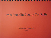 Cover of 1900 Franklin County Tax Rolls
