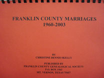 Cover of Marriages of Franklin County, Texas, 1960-2003 (Franklin County Marriages)