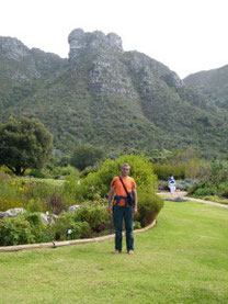 In front of the Table Mountain