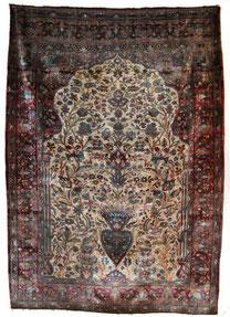 Kashan  1,85 x 1,30 m   fin XIX