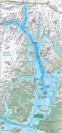 アラスカ南東部 グレーシャー国立公園