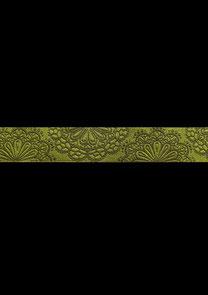 Band 30 - Spitzenwerk khaki-lime 17mm Design: kleiner Himmel Design