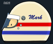 Helmet of Mark Donohue by Muneta & Cerracín