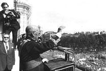 """el dictador calificó en su última aparición en público, el 1 de octubre de 1975, de """"conspiración masónica izquierdista"""""""