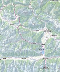 Route von Waidring nach Fusch am Großglockner