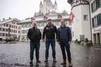 vl. Ernst Meyer, Leiter Hochbau Bern, Thomas Sempach, Heimenschwand, Michael Waber, Leiter Hochbau Thun