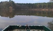 Rast im Boot am Mittelsee